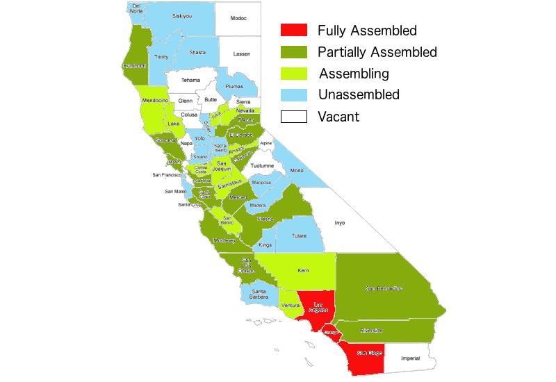 California Assembly Metrics as of 10/13/2021