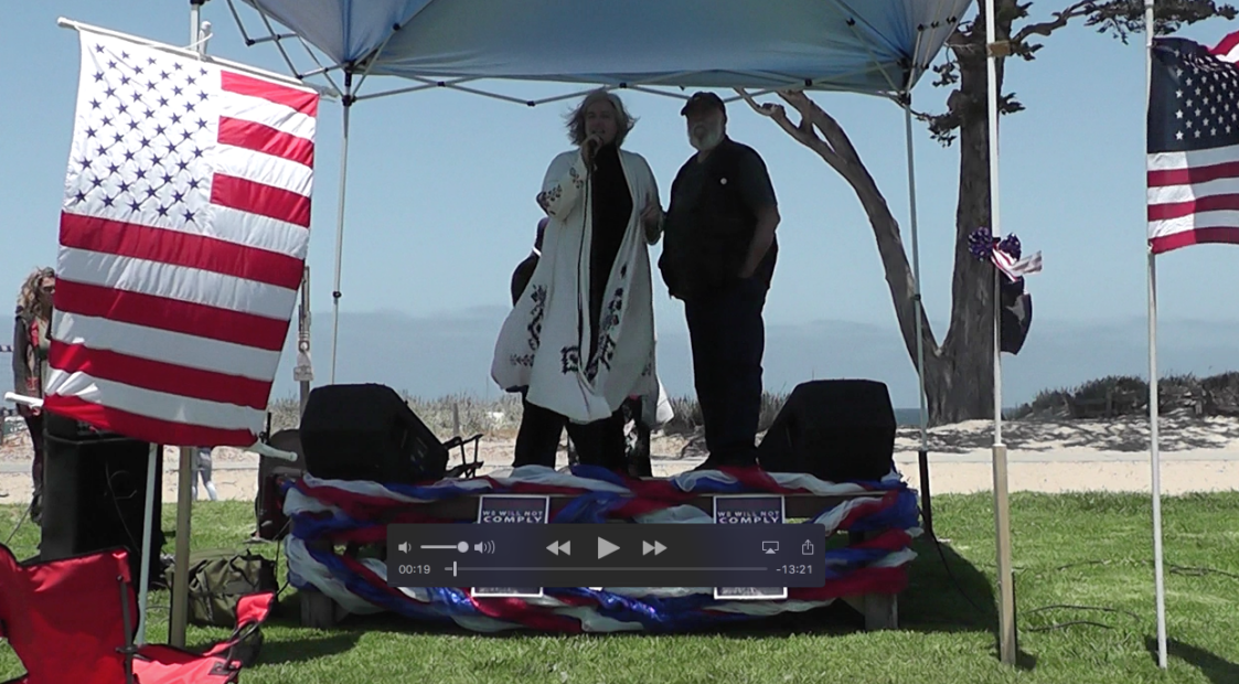 Nancy Kremer opens for Dr. Judy Mikovits May 30th 2021 Video 1 of 5, window to the bay park, Monterey California.